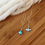 Náhrdelníky - Náhrdelníky s perlami v tvare krížika a kvapky (gold filled) (Retiazka s perlou v tvare kvapky) - 13688373_
