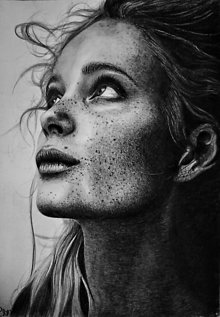Kresby - Kresba - Portrét - Krása v pehách - 13691785_
