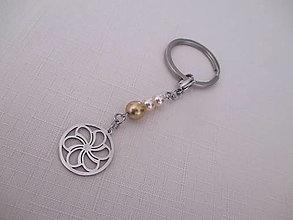 Kľúčenky - Kľúčenka - mandala - chirurgická oceľ - 13691573_