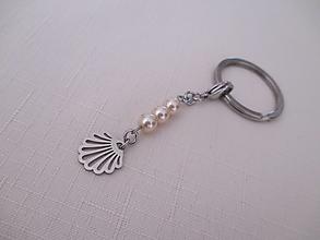 Kľúčenky - Kľúčenka - mušľa - shell - chirurgická oceľ - 13691607_