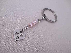 Kľúčenky - Kľúčenka - srdcia - chirurgická oceľ - 13691627_