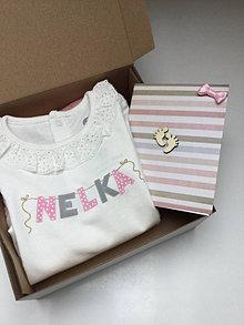 Detské oblečenie - Tričko / body s menom na želanie - 13690811_