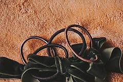 Ozdoby do vlasov - Gumička s velvetovou mašličkou - 13693042_