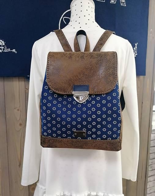 Modrotlačový batoh Matej hnedý 1
