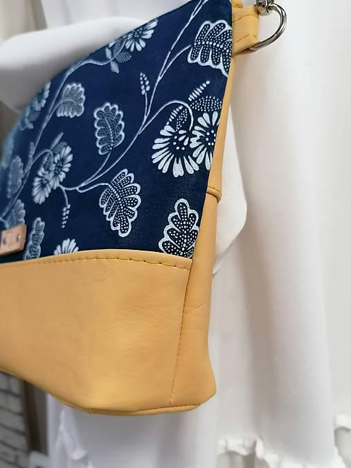 modrotlačová kabelka Soňa žltá