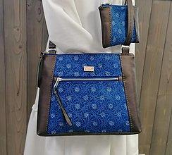 Kabelky - modrotlačová kabelka Xénia hnedá metalická 2 - 13692359_