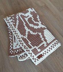 Textil - Žirafa Kamila - pletená deka. - 13693100_