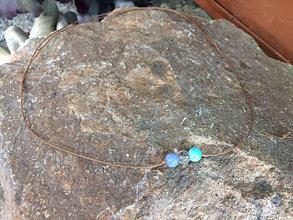 Náhrdelníky - náhrdelník Krištáľ,Akvamarín,Amazonit - 13691058_