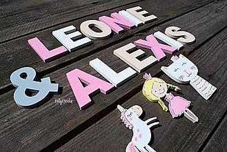 Detské doplnky - Písmenká pre dievčatká...na želanie - 13694432_