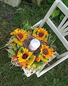 Dekorácie - Jesenný veniec - 13694457_