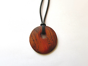 Náhrdelníky - Drevený náhrdelník - 13695825_