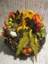 Dekorácie - Jesenný veniec - 13696226_