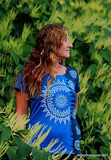 Tričká - Dámske tričko batikované, maľované SAVITA - 13694302_