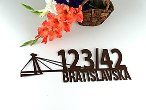 Tabuľky - Popisné číslo: Bratislava - 13693950_