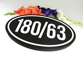 Tabuľky - Popisné číslo: Vintage Oval (3 čísla) - 13694187_