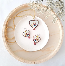 Sady šperkov - Vyšívaná súprava JESENNÉ POHLADENIE - 13694039_