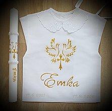 Detské oblečenie - Košieľka na krst + sviečka - 13695524_