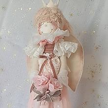 Bábiky - Anjelik (Ružový) - 13694222_