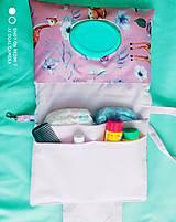 Detské doplnky - Nepremokavý organizér na plienky  SRNKY ružový - 13696127_