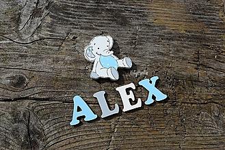 Tabuľky - 3,5cm malé písmenká ALEX - 13697417_