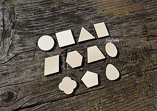 Detské doplnky - Geometrické tvary..11ks - 13697594_