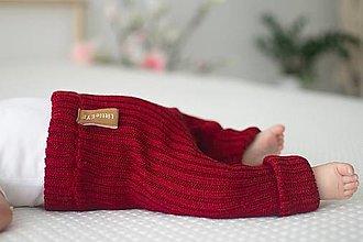 Detské oblečenie - Baby kamaše, veľ. 56-140, OEKO-TEX®, červené - 13697176_