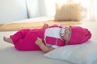 Detské oblečenie - Baby kamaše, veľ. 56-140, OEKO-TEX®, cyklamenové - 13697233_