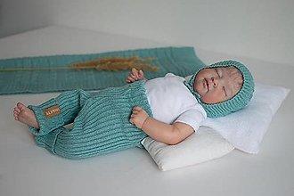 Detské oblečenie - Baby kamaše, veľ. 56-140, OEKO-TEX®, nefritové - 13697590_