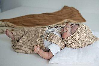 Detské oblečenie - Baby kamaše, veľ. 56-104, OEKO-TEX®, hnedé (56 - 68) - 13697741_