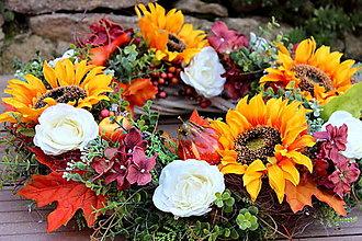 Dekorácie - Jesenný veniec XXL - 13699281_
