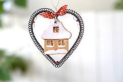 Dekorácie - zasnežený domček - 13698853_