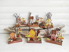 Dekorácie - Mini jesenné domčeky - 13702260_