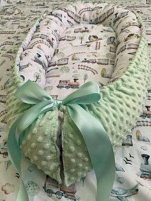 Detské doplnky - Hniezdo pre bábätko - vláčik - 13701042_