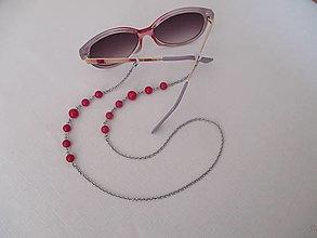 Iné šperky - Retiazka na okuliare - cyklámenová - chirurgická oceľ - 13700862_