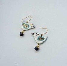 Náušnice - Tana šperky - keramika/zlato - 13701417_