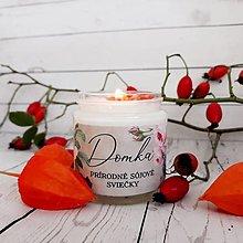 Svietidlá a sviečky - Natural (neparfumované) sójové sviečky (230g priehľadný pohárik) - 13702002_