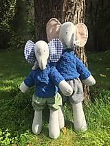 Hračky - sloník Andy a Kiki - 13700369_