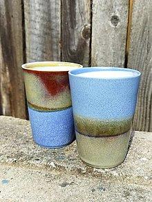 Nádoby - Latte pohár modrozelený - 13700536_