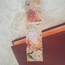 """Papiernictvo - Záložka """" V babičkinej záhrade"""" - 13703049_"""