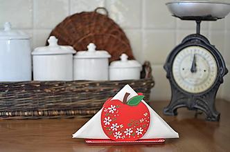 Dekorácie - Stojan na servítky jablko - 13705155_