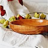 Nádoby - Drevená čerešňová miska patinovaná Ø22,5/4,5 - 13703793_