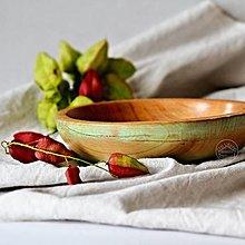 Nádoby - Drevená čerešňová miska patinovaná Ø19,5/4,5 - 13703762_