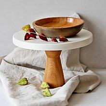 Nádoby - Set drevenej misky a podnosu na nožičke - 13703882_