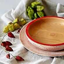 Nádoby - Set drevenej bukovej misky a podnosu - 13703957_