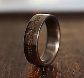 Prstene - SKLADOM - Titánový prsteň s Bronzom - 13705258_