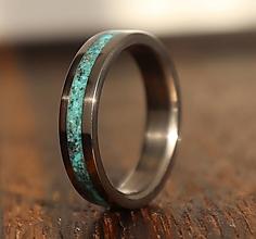 Prstene - SKLADOM - Titánový prsteň Tyrkys - 13704154_