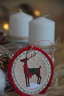 Dekorácie - Vianočné ozdoby (Jelenček) - 13705167_