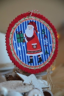 Dekorácie - Vianočné ozdoby (Santa) - 13705179_