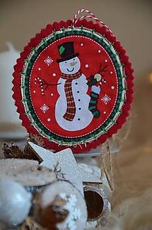 Dekorácie - Vianočné ozdoby (Snehuliak) - 13705191_