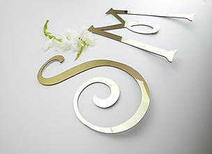 Dekorácie - Svadobné iniciálky (2 kusy) - 13704253_